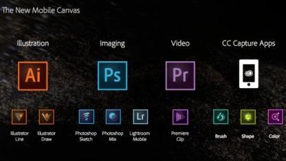 Adobe erweitert Angebot von iOS-Apps und bindet sie an Desktop-Versionen an.