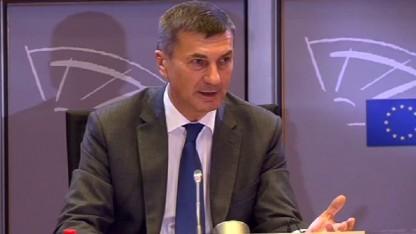 Andrus Ansip in der Anhörung des EU-Parlaments