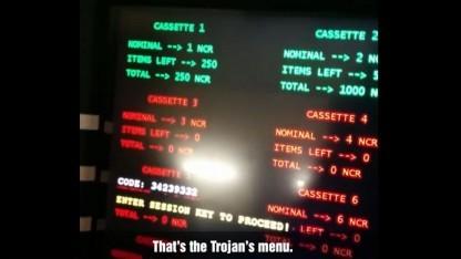 Kaspersky führt befallenden Geldautomaten vor.