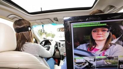Überwachung der Probanden beim Autofahren