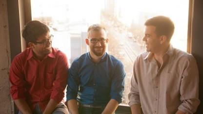 Josh Miller (rechts) mit den Branch-Mitbegründern Hursh Agrawal and Cemre Güngör