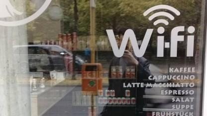WLAN in Berliner Café
