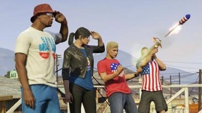 Szene aus dem Independence Day Special von GTA V Online