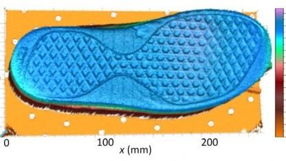 3D-Scan einer Schuhsohle: Lidar und Frequenzkamm kombiniert