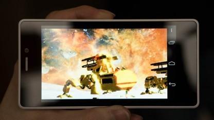 3DMark Ice Storm Unlimited auf einem Intel-Referenz-Smartphone