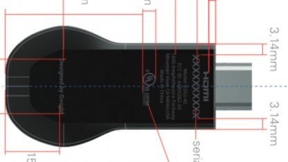Zeichnung des neuen Chromecast