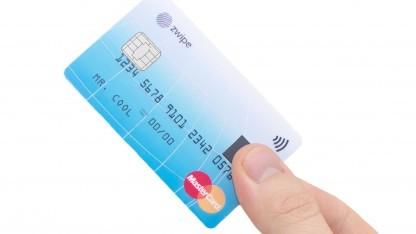 Mastercard mit Zwipe-Scanner