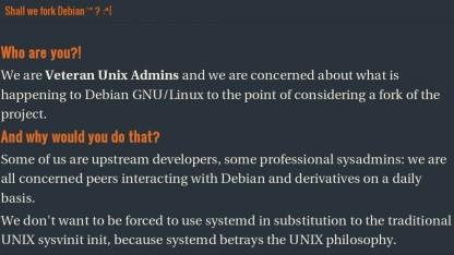 Eine Gruppe von Debian-Nutzern kündigt einen Fork an, sollte Systemd verwendet werden.