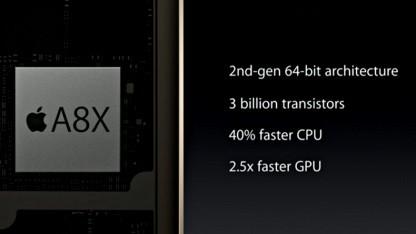 Das A8X-SoC ist deutlich schneller als der A8-Chip.