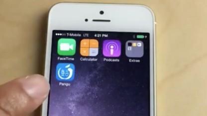 Pagu auf dem entsperrten iPhone