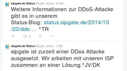 Sipgate ist Opfer einer umfangreichen DDoS-Attacke.
