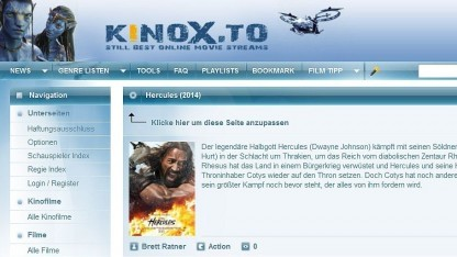 Homepage von Kinox.to