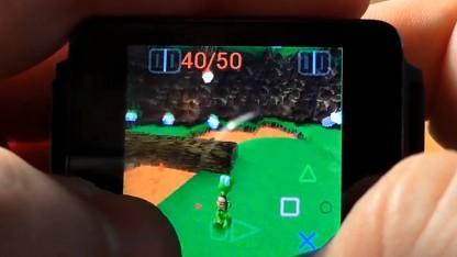 Playstation-Spiel auf einer Smartwatch