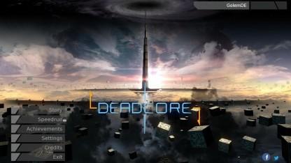 Startbildschirm von Deadcore