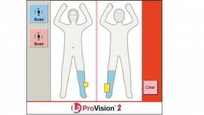 Moderne Körperscanner zeigen nur Symbolbilder an.