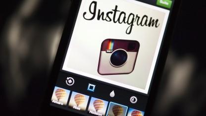 Die Instagram-App auf einem Smartphone