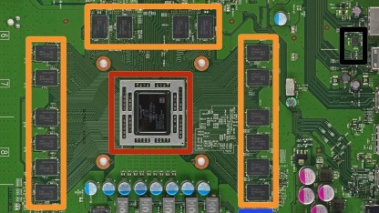 Platine der Xbox One mit 28-nm-SoC