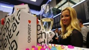 Feier zum Börsengang von Zalando am 1. Oktober in Frankfurt am Main
