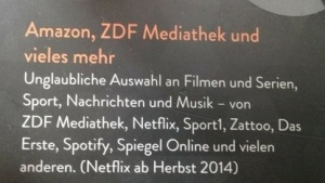 Packung des Amazon Fire TV