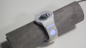 Uhrarmband mit Bildschirm: gedruckte Touchscreens