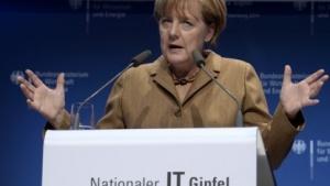 Bundeskanzlerin Angela Merkel auf dem IT-Gipfel in Hamburg