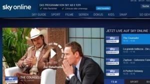 Startseite von Sky Online