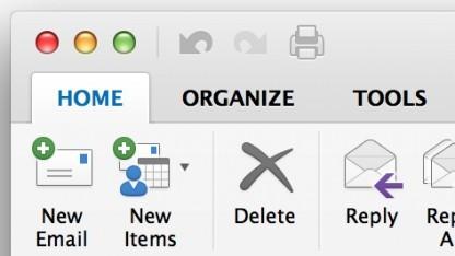 Microsofts neue Outlook-Version unterstützt Retina-Displays.