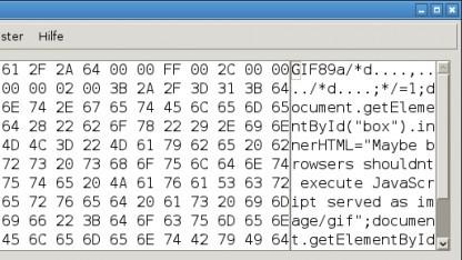 Eine GIF-Datei mit eingebautem Javascript-Code