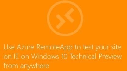 Der IE 11 unter Windows 10 lässt sich nun in der Cloud testen.