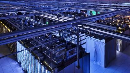 Blick in ein Rechenzentrum von Google