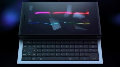Eine Tastatur als Rückseite des Jolla