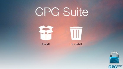 Der GPG-Tools-Installer unter Mac OS X 10.10