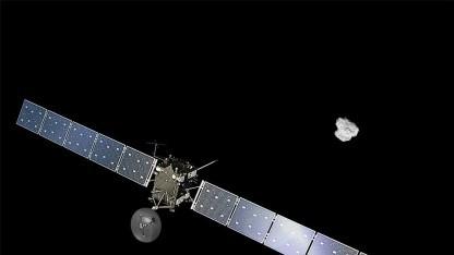 Rosetta im Anflug auf den Kometen 67P/Tschurjumow-Gerassimenko