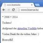 Nach Razzia: Boerse.bz stellt den Betrieb ein