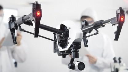 DJI Inspire 1 kann sich ohne GPS orientieren.
