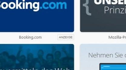 Ungewohntes Bild: Anzeigenhinweis im Firefox-Browser