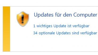 Ein Desktop-Windows stuft die Lücke nur als wichtig ein.