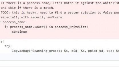 Der Programmier räumt im Code selbst Probleme mit Fehlalarmen ein.