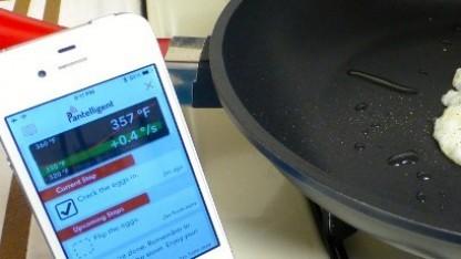 Die Pantelligent-Pfanne lässt sich per App überwachen.