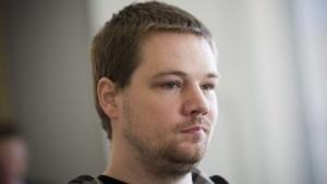 Fredrik Neij im September 2010 bei einer Anhörung in Schweden
