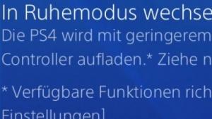 Ruhemodus der PS4 mit Firmware 2.01