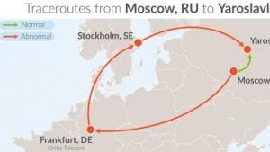 Weite Umleitung von russischem Internetverkehr