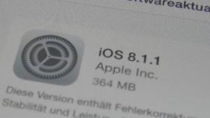 iOS 8.1.1 als OTA-Update