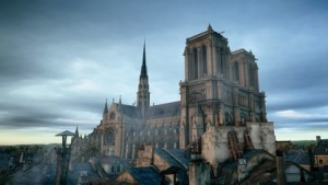 Innerhalb der Notre-Dame steigt die Bildrate.