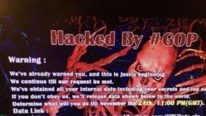 Hackerdrohung auf den Computern der Mitarbeiter von Sony Pictures