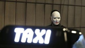 Taxifahrerproteste in Brüssel im Jahr 2013