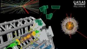 Teilchenkollision im Atlas-Experiment: Der Mensch erkennt Spuren, die dem Computer entgehen.