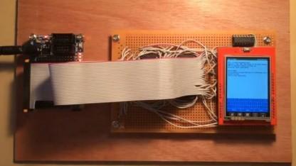 Der Aufbau für den Zork-Interpreter in Hardware