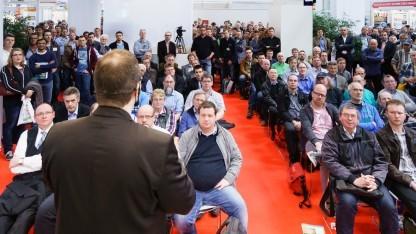 Klaus Knopper bei seinem Vortrag im Open Source Forum der CeBIT 2014