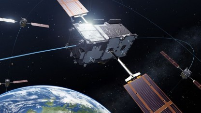 Galileo-Satellit: Ende 2015 sind 12 Satelliten im Orbit.